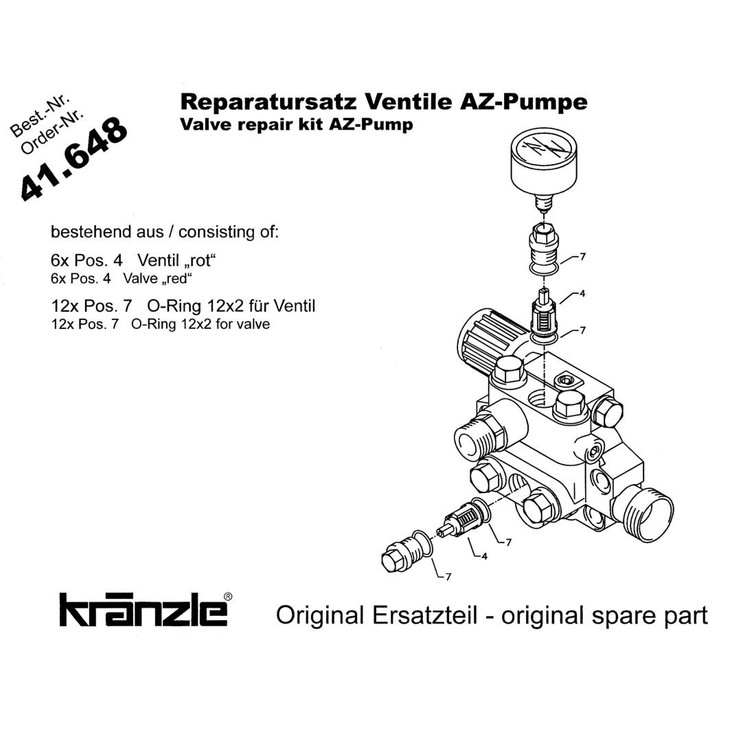 Kränzle Plunger mit Sprengring 18 mm für AP-Pumpe